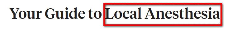 keyword in header