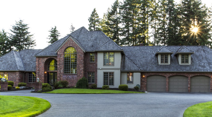 Large driveway to home