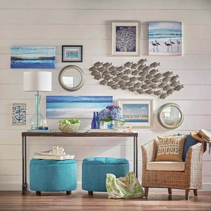 Seashell Wall Summer Room Décor