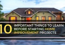 Important Things To Learn Before Starting Home Improvement Projects
