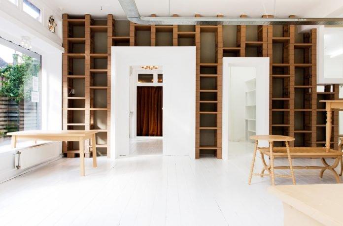 Custom wood floating shelves for modern home organizing