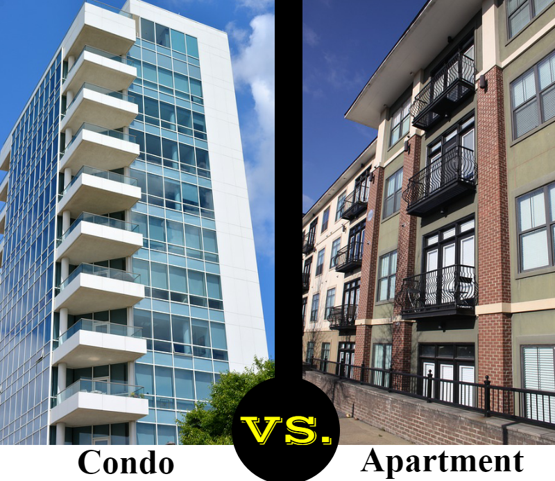 Condominiums vs. apartments