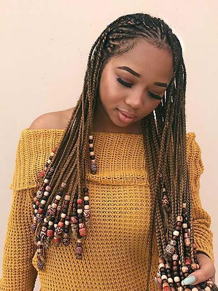 Lemonade Braids With Beads