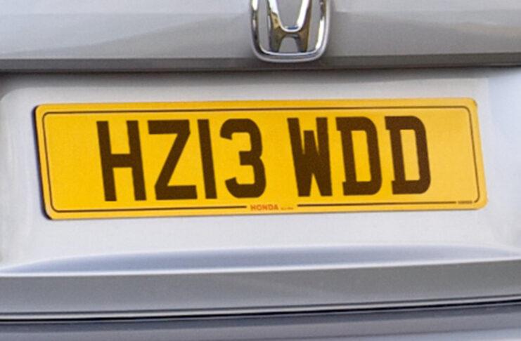 Britain plat number